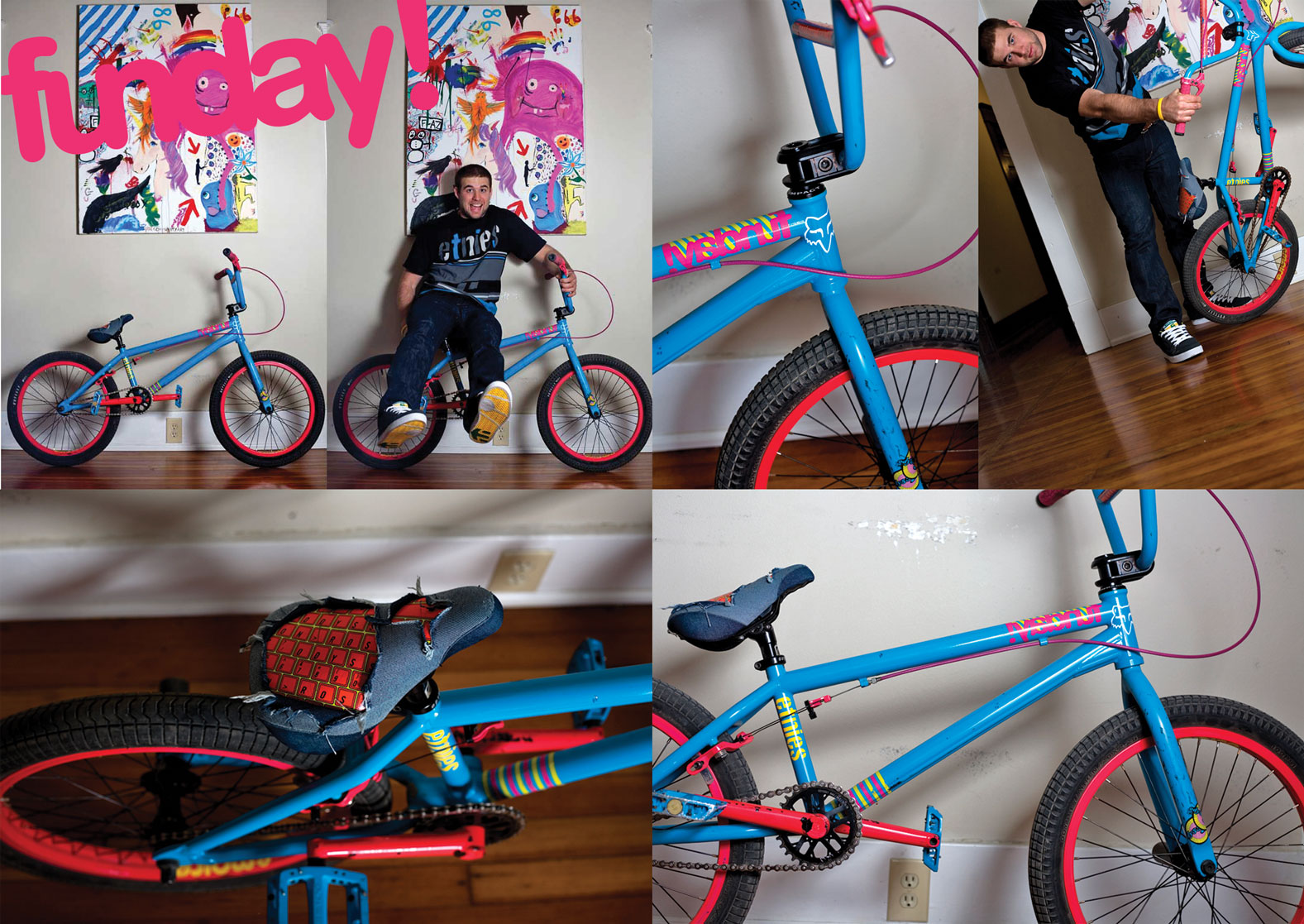 Aaron Ross S Blue And Pink Funday Sunday Bikes